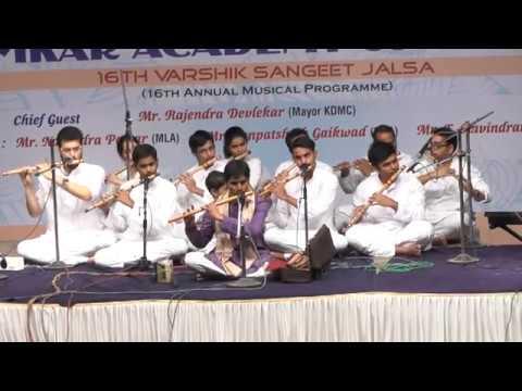 Amazing Flute on raag hamsadhwani played by Mr. Prashant Baniya and students Part 1