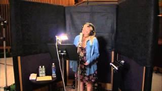 """Demi Lovato singing """"Let It Go"""" For """"Frozen"""" In Studio"""