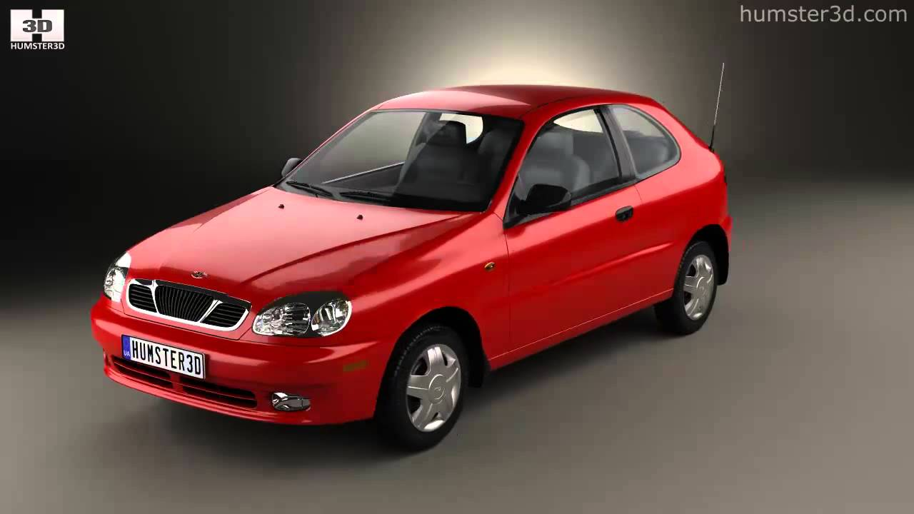 small resolution of daewoo lanos 3 door 1997 by 3d model store humster3d com