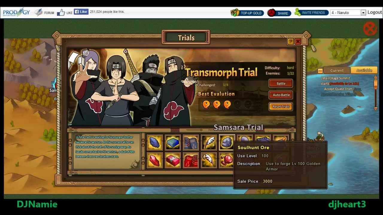 Anime Ninja   Samsara Trial   Hard Mode   Naruto Game ...