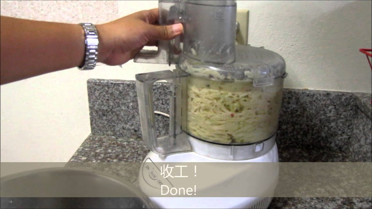Grating Potatoes With A Food Processor