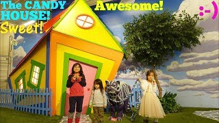 Family Toy Channel: Trip to a Candy House with Hulyan and Maya! A Candy Factory for Kids! Candytopia