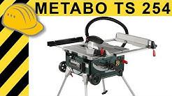 Tischkreissägen Test - METABO TS 254 K Kreissäge mit Trolley & Tisch | Bosch GTS 10 XC Alternative?