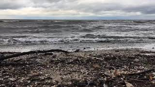 Waves on Saginaw Bay are minor with major winds
