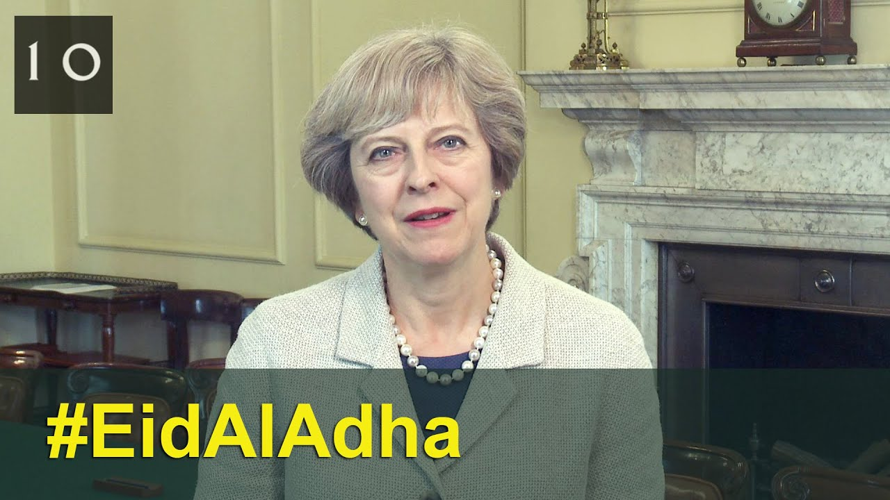 Uk muslims press for peace at 10 downing street - Eid Al Adha 2016 Theresa May S Message 10 Downing Street