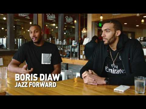 Boris Diaw and Rudy Gobert French Connection