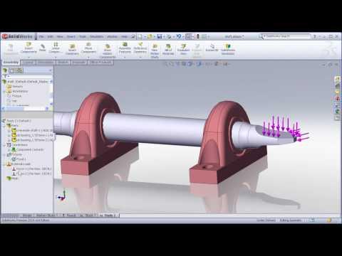 Penetration no solidworks simulation