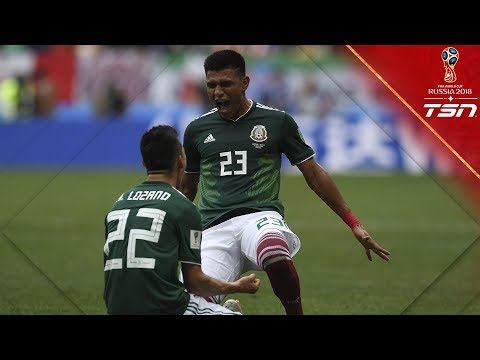 Mexico surprises Germany, scoring first on reigning World Cup champs