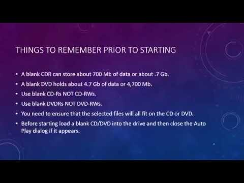 How To Copy Files To CD Using Windows 8