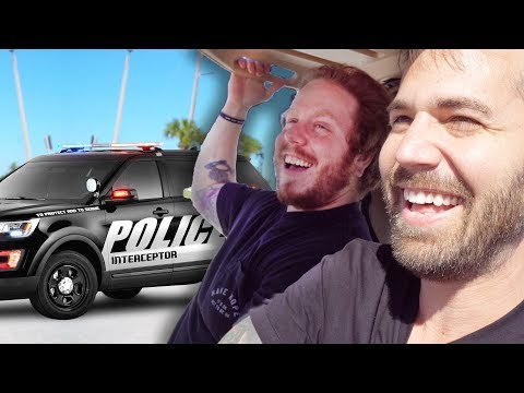chased by the police on golf cart