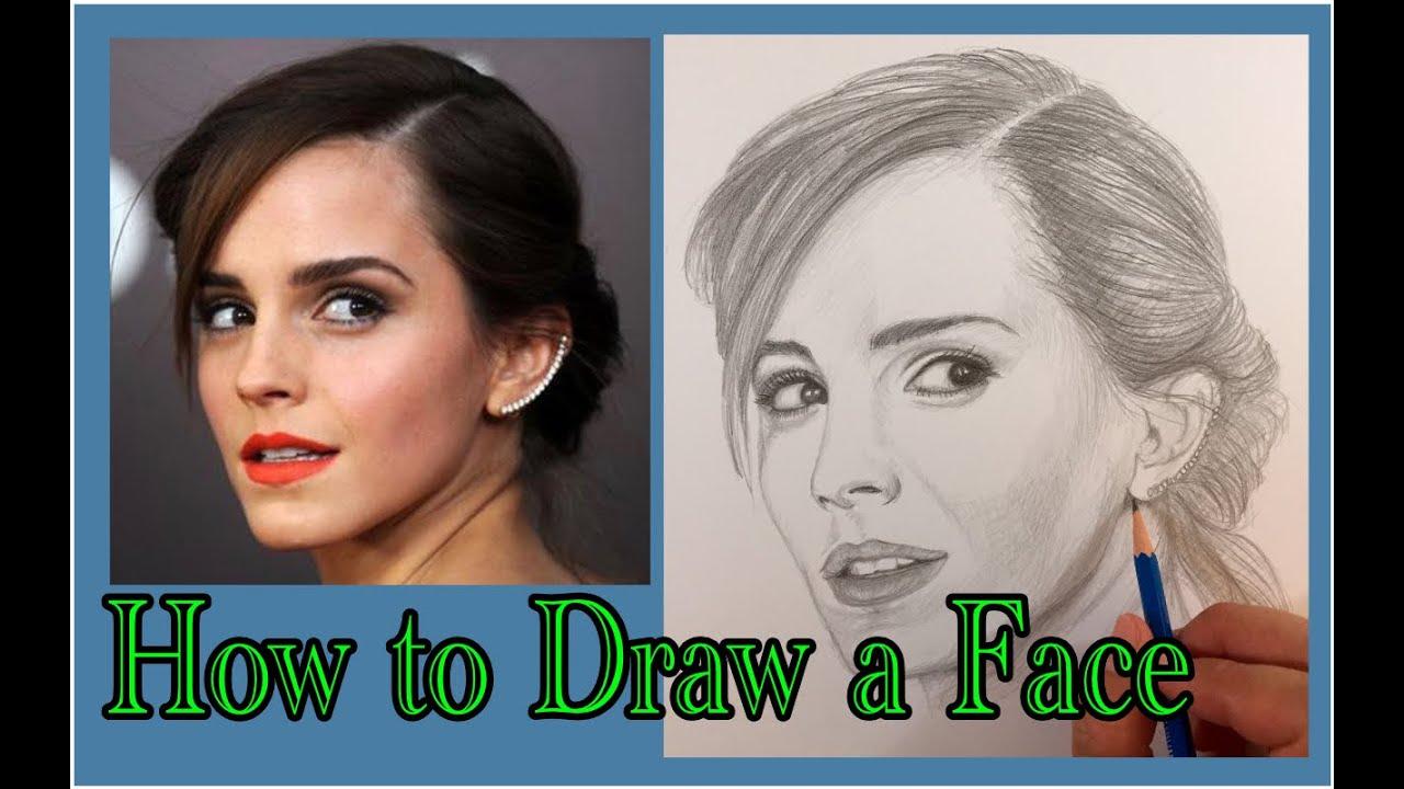 An Easy Way To Draw Emma Watson Youtube