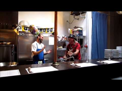 Chef Jonathan gets a Rockstar Singing Telegram