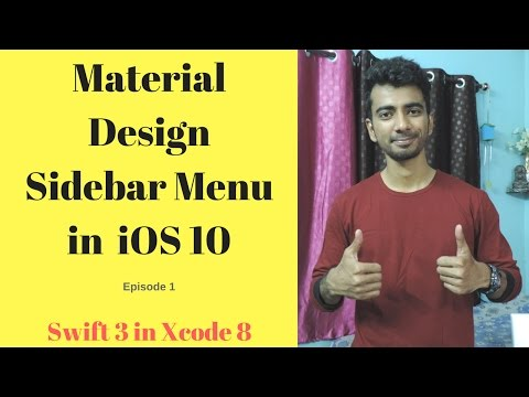 Material Design Sidebar Menu in iOS 10 without framework (Swift 3 in Xcode 8) -1 