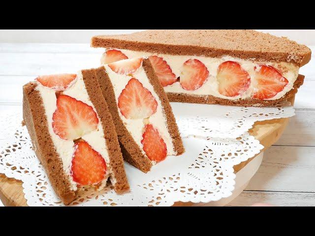 たっぷりいちごのチーズクリームサンドケーキStrawberry cheese cream Sand cake