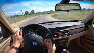 2006 BMW 325i 6MT Sedan (E90) - POV Test Drive (Binaural Audio)