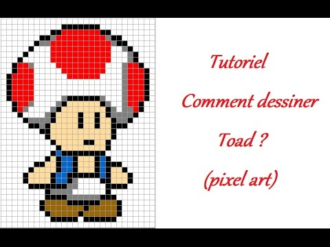 Tutoriel Comment Dessiner Toad Pixel Art