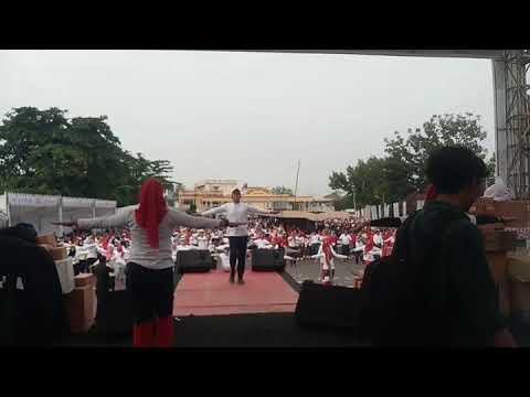 Senam Massal Millennial Road Safety Festival 2019 Kuantan Singingi Riau