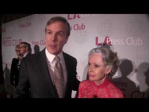 Actress Tippi Henden, KNBC's Robert Kovacik at L.A. Entertainment Journalism Awards