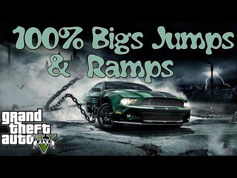 GTA V ONLINE | Courses: 100% Big Jumps & Ramps