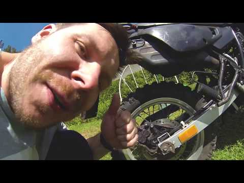 How to replace Suzuki DR brake pads