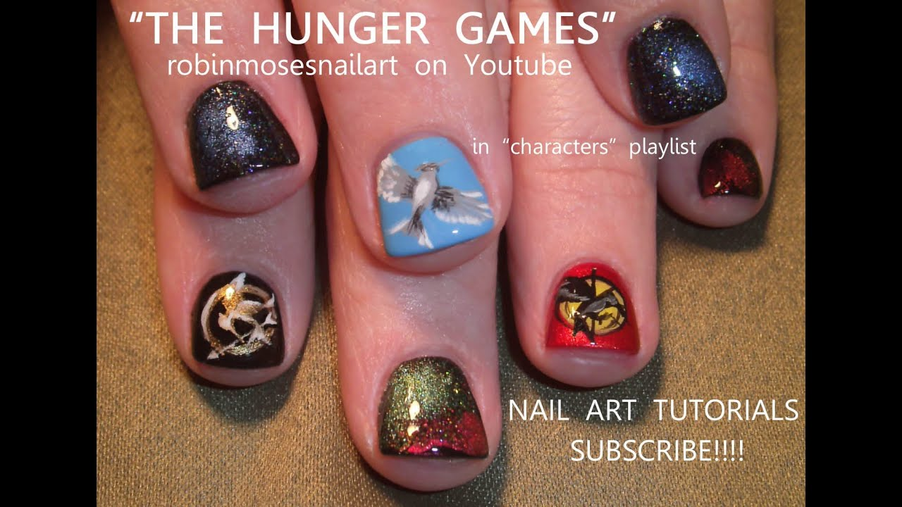- The Hunger Games Nails Nail Art Design - YouTube