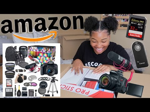 AMAZON BUNDLE! Canon EOS Rebel T7i UNBOXING W/ RodeMic! 1st Impressions + Demos!