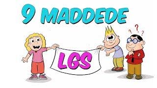 9 Maddede LGS (Liselere Giriş Sınavı)