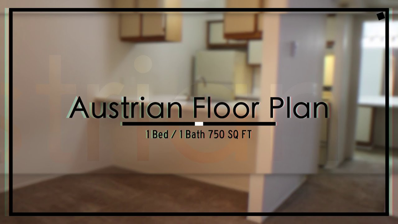 Austrian Floor Plan Ashton Pines Apartments Youtube