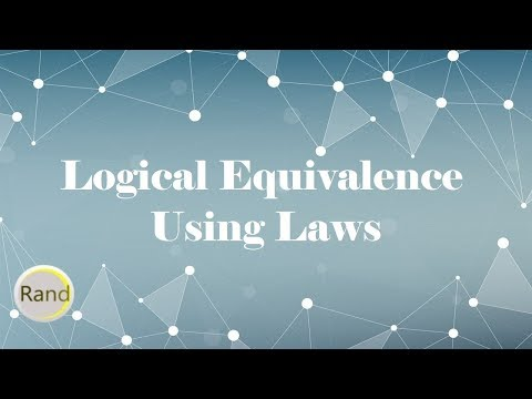 Prove Logical Equivalence Using Laws