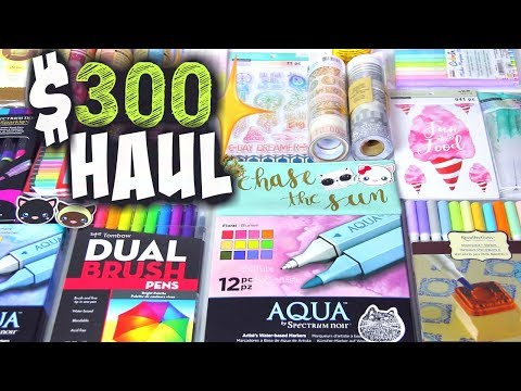 $300 ARTS AND CRAFT SUPPLY HAUL | FASHION & CRAFT HAULS! by SoCraftastic
