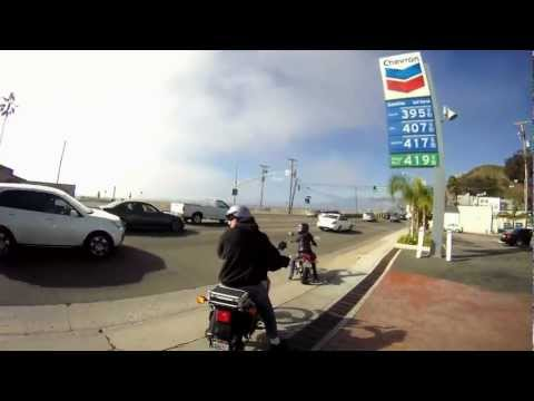 Riding up Pacific Coast Highway from Santa Monica to Malibu