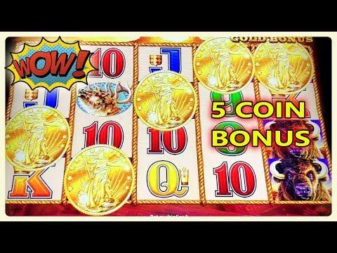 ★ WOW 5 COIN BONUS TRIGGER BUFFALO GOLD ★