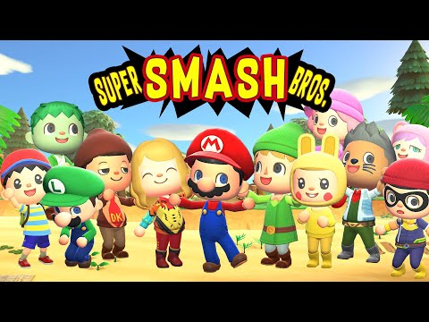 Super Smash Bros. Intro - Made with Animal Crossing