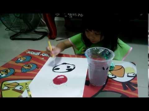 cute baby น้องอิ่มวาดภาพระบายสี