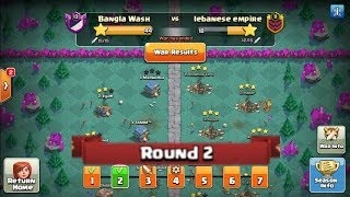 Clan war league 2018 season 2 november round- 2 ( Clash Of Clans )