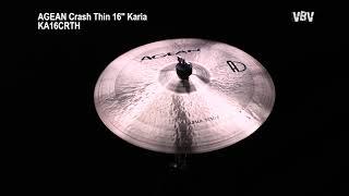 "Crash Thin 16"" Karia vidéo"