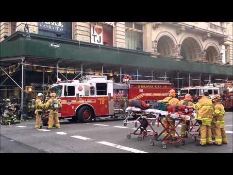 FDNY ON SCENE & BATTLING A 2 ALARM FIRE INSIDE THE PATH TRAIN SYSTEM AT W. 19TH ST. IN MANHATTAN.