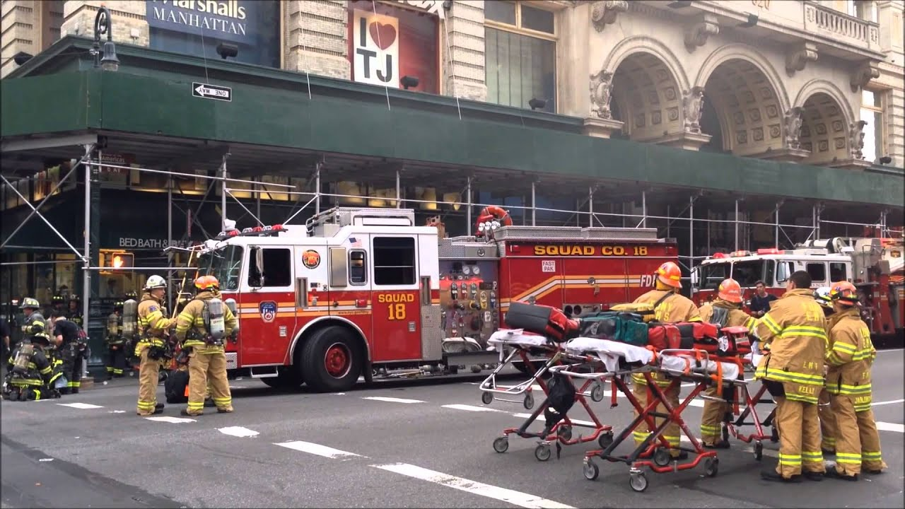 Fdny On Scene Battling A 2 Alarm Fire Inside The Path Train System At W 19th St In Manhattan You