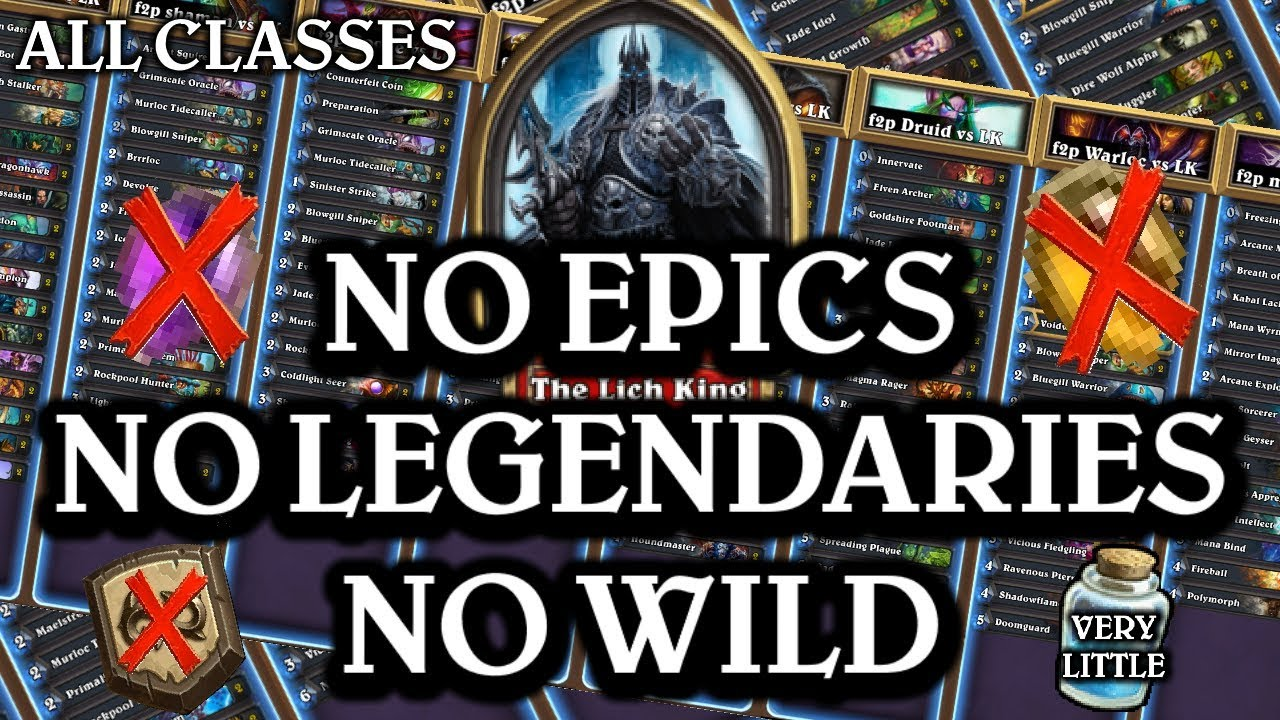 Beat the Lich King using only COMMONS and RARES (ALL classes)