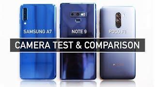 Samsung A7 2018 / Note 9 / Poco F1 CAMERA TEST Sample Photo Video | Zeibiz