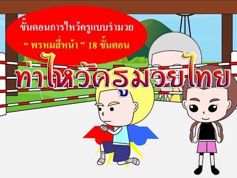 การ์ตูนอนิเมชั่นรักมวยไทย (ท่าไหว้ครู มวยไทย พรหมสี่หน้า)