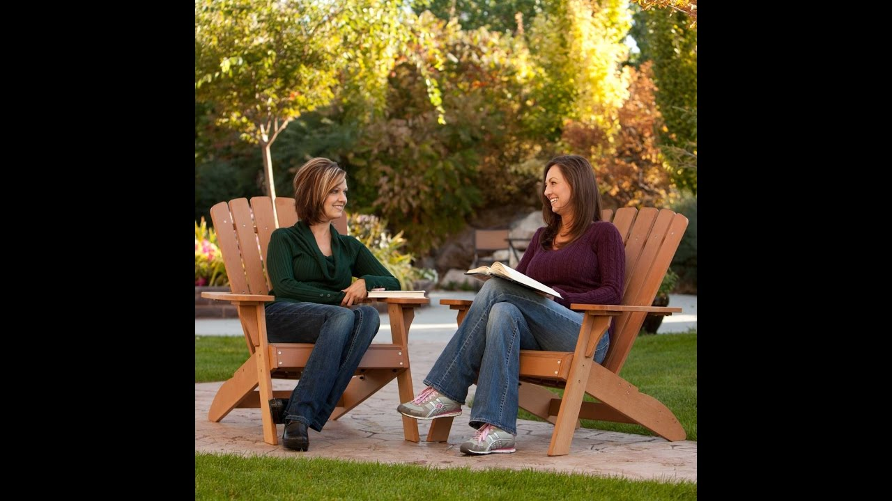 poly of luxcraft picture adirondack chair lifetime deluxe swingsets
