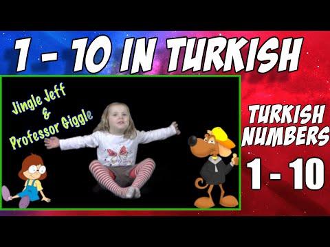 Learn Turkish | 1 - 10 in Turkish | Turkish numbers with Jingle Jeff