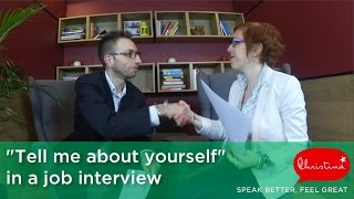 Answering 'Tell me about yourself' in a Job Interview – English Speaking