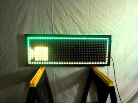"LEDSIGNMART.COM Tri-Color RGY LED Sign 15""x41"" 20mm Pitch"
