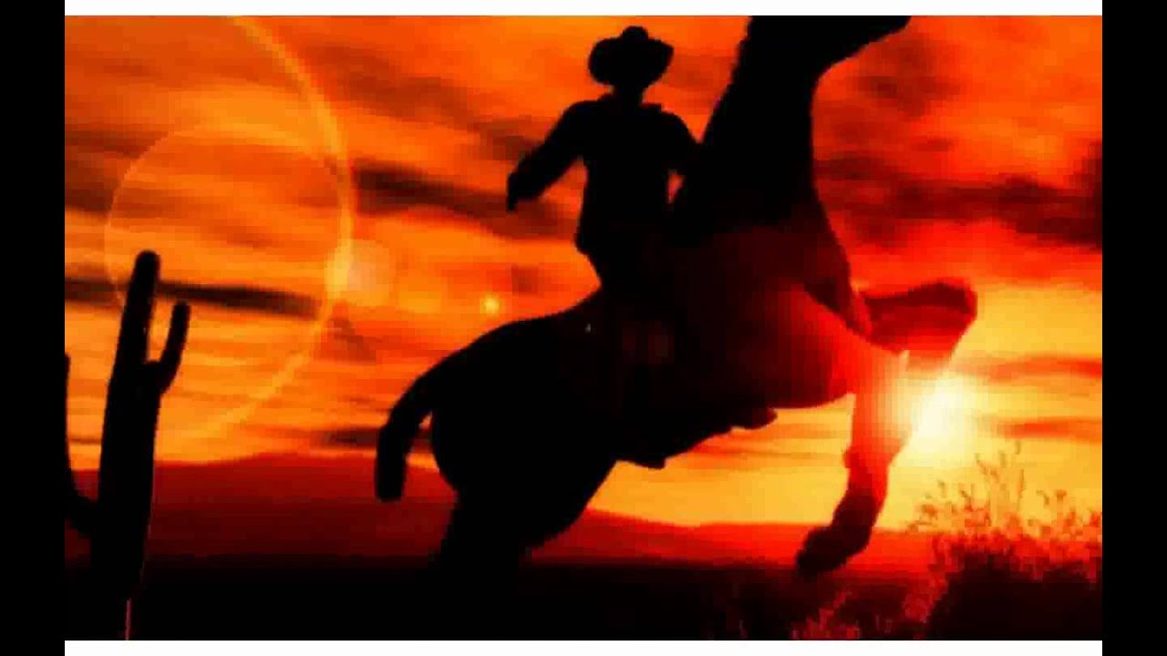 Girl Riding Horse Wallpaper Western Cowboy At Sunset Pictures Youtube