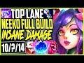 TOP LANE NEEKO SEASON 9 FULL BUILD | INSANE DAMAGE NEEKO | LoL TOP Neeko vs Fiora Season 9 Gameplay