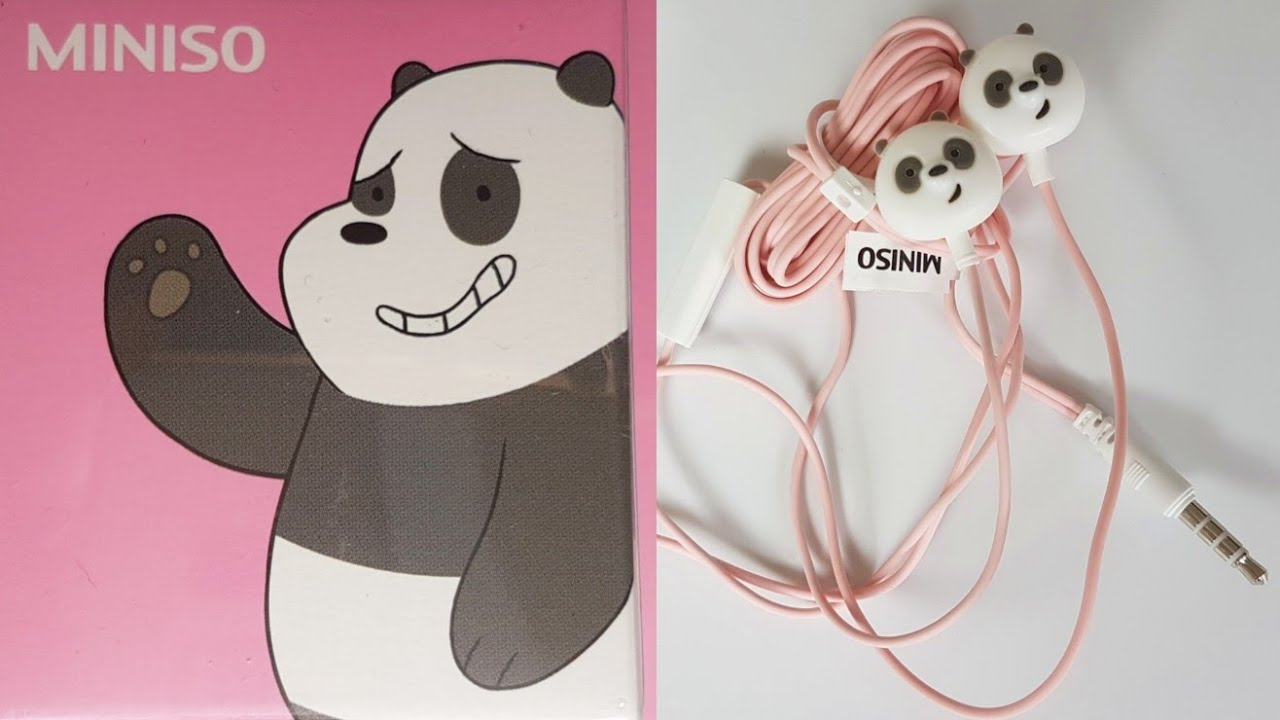 fe314d41252 We Bare Bears Miniso Japan Earphones Panda ASMR 4K - YouTube