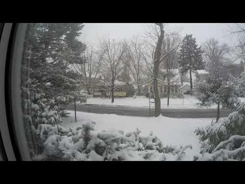 Snow time lapse Feb 20 2019