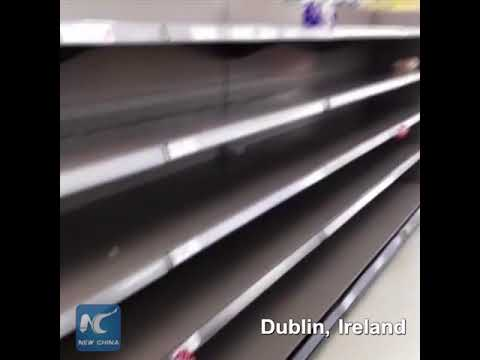 Dublin supermarket sells out of bread ahead of Storm Emma